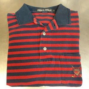 Polo Golf Small Red/Black Pocket Polo!